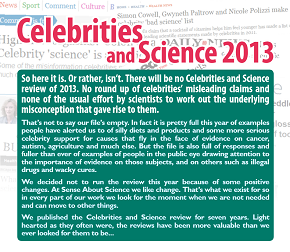 Celebrities and Science 2013