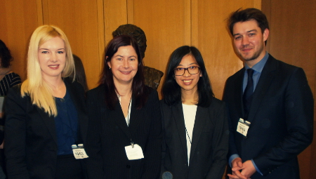 Theresia Mina (2nd from right) with Society for Endocrinology delegates at VOF2014